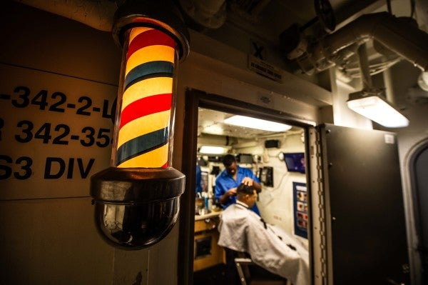 The Navy is relaxing its grooming standards to battle the spread of the coronavirus