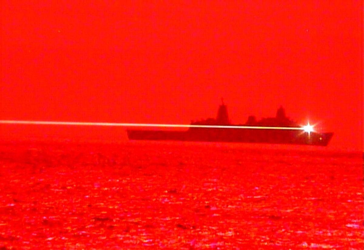 USS Portland Laser Weapon System Demonstrator