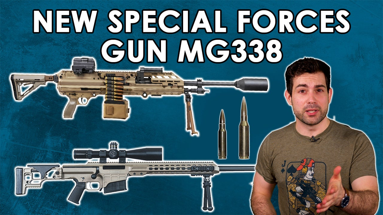 NEW Special Forces Guns the MG 338 and Barrett MRAD .338 NM