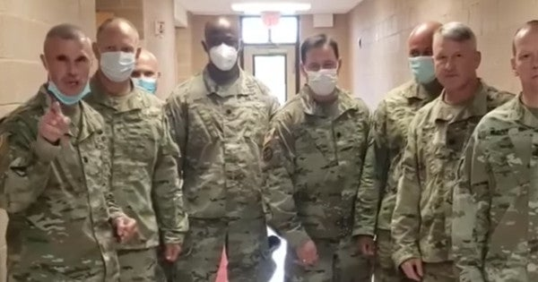 New Jersey National Guard's new retention pitch: Yell and throw money at a camera