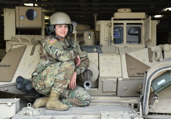 Female soldiers in the army