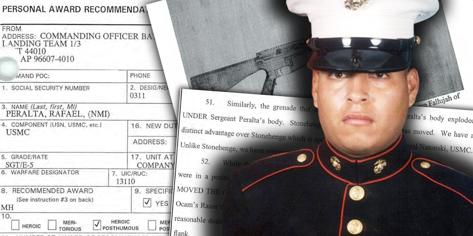 Rafael Peralta's death ensured four fellow Marines would live. His Medal of Honor award recommendation explains how