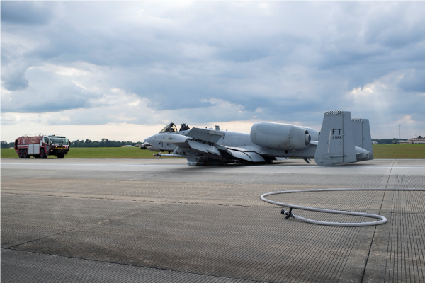 An A-10 pilot walked away unharmed after an emergency belly landing at Moody AFB