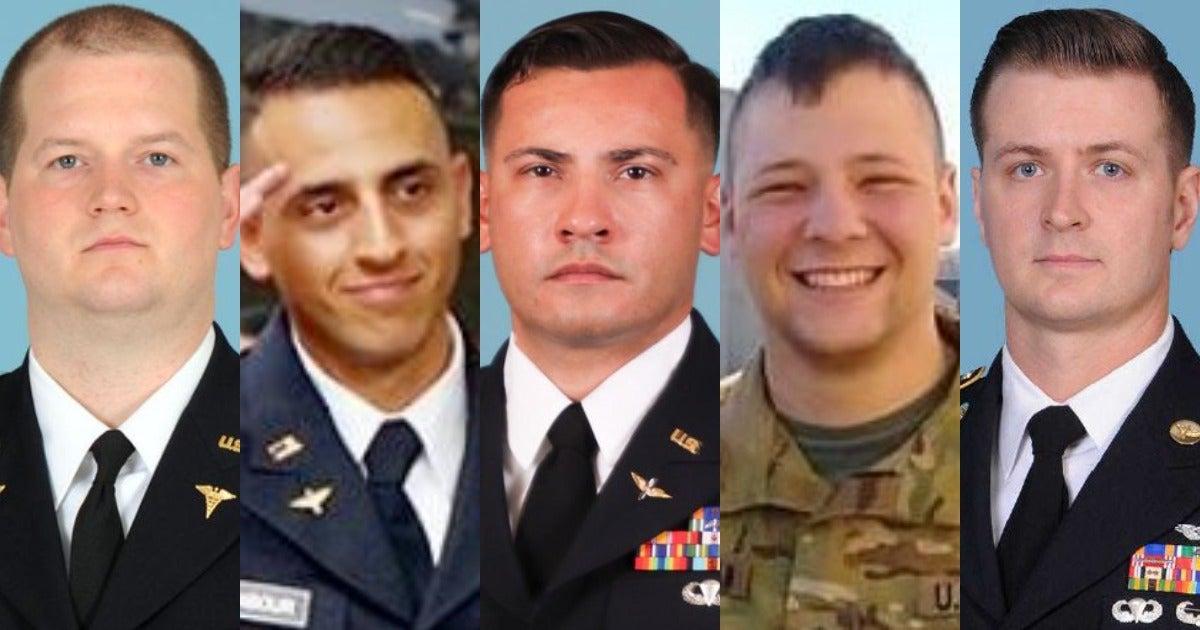 Army identifies five soldiers killed in Black Hawk crash in Egypt