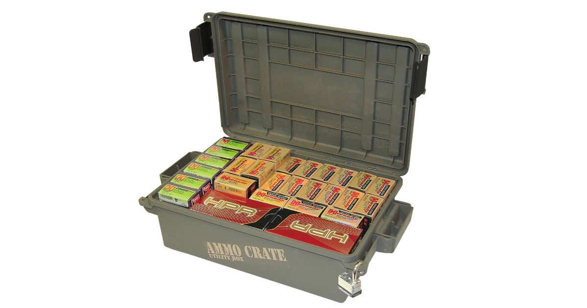 This ammo box offers heavy-duty stackable storage — and it's currently half off