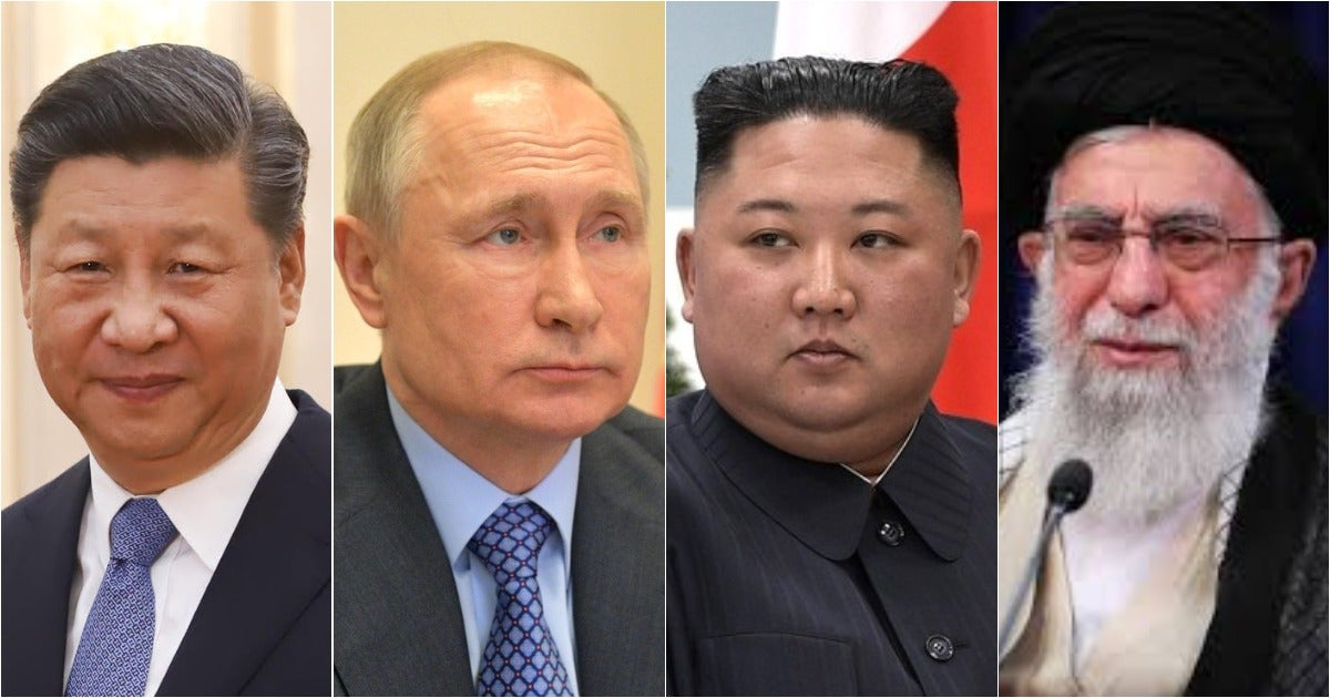 The admiral in charge of America's nukes says he has pictures of the world's worst dictators with 'not today' on his office wall