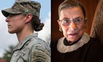 One of the first women to earn a Ranger tab describes what it was like to lead Ruth Bader Ginsberg's lying in state