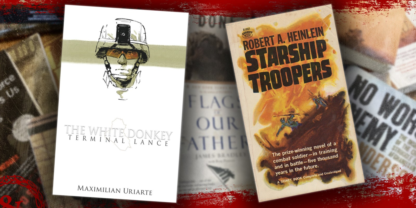 'Starship Troopers' is off the Marine commandant's reading list, but 'White Donkey' by Terminal Lance is in