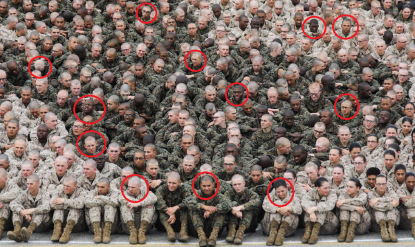Marines recreate 'living eagle, globe, & anchor' photo — this time with hilariously tired and pissed off recruits