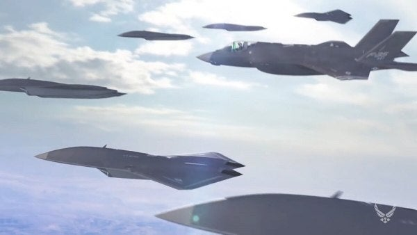 The Air Force is pushing forward with 'Skyborg' combat drones to deploy alongside manned fighter jets