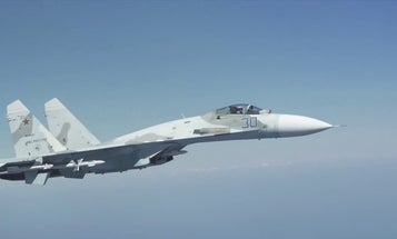 Russian fighters fly dangerously close to B-52