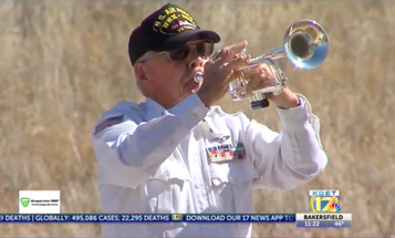 'One hell of a patriot' — Combat airman who played Taps for over 5,000 veteran funerals dies at 98