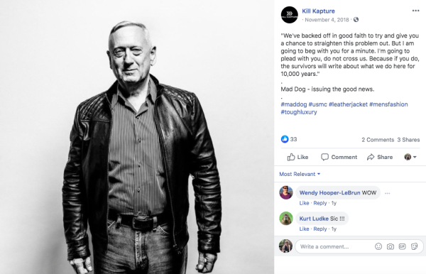 Yes, this photo of Mattis modeling a leather jacket is very real