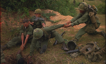A Marine vet is building a pile of rocks in memory of those killed in the Vietnam War