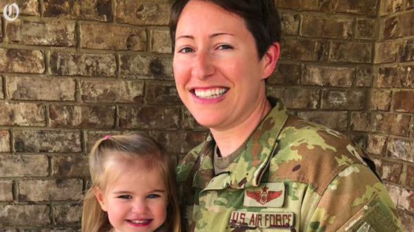 A survivor of 'Don't Ask, Don't Tell' and cancer just became an Air Force major—from her porch