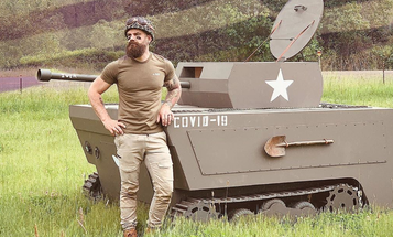We salute the guy who turned his riding lawnmower into a tank named 'COVID Killer'