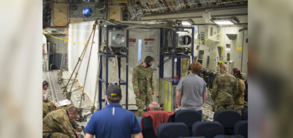 Here's how the Air Force is safely moving COVID-19 patients out of the Middle East