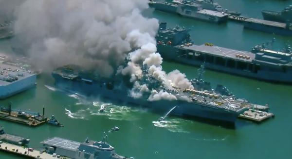 Navy: Origin of USS Bonhomme Richard fire still unknown