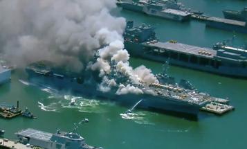 Sailors test positive for coronavirus after sharing gear fighting the USS Bonhomme Richard fire
