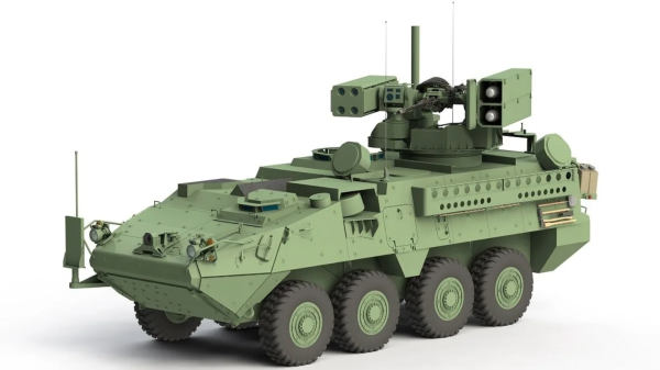 The Army may name its next missile-hauling Stryker after a fictional Warhammer 40,000 tank