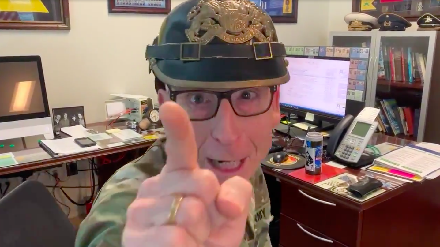 Army 3-star general vows to 'hunt down' internet trolls in hilarious video