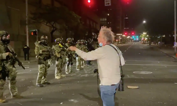 Watch this Vietnam vet brave pepper spray to deliver a powerful message to federal officers in Portland