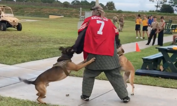 Navy investigating video of military dogs attacking man in Colin Kaepernick jersey during demonstration