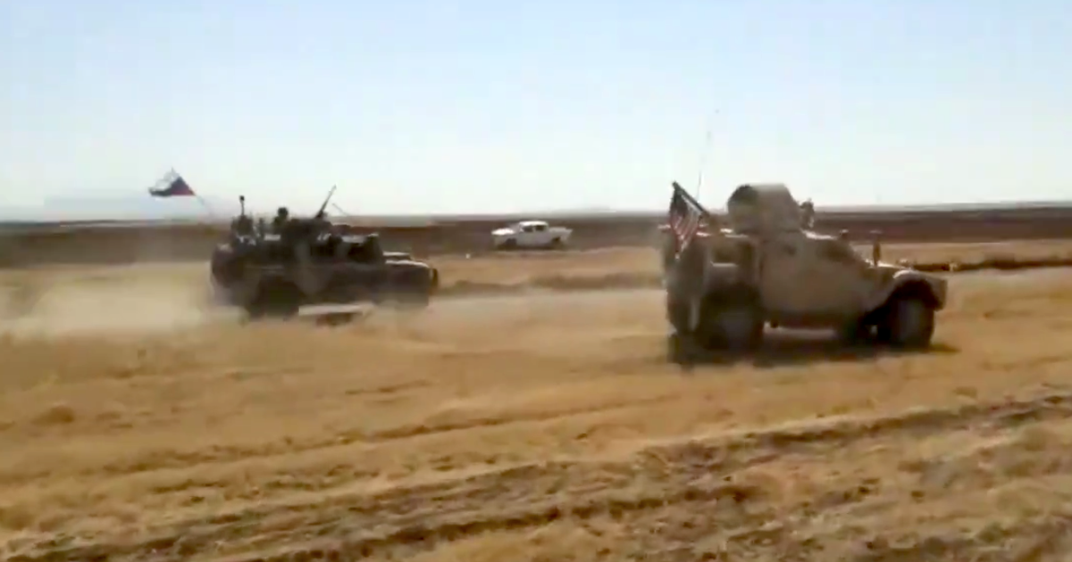Video shows US and Russian military vehicles colliding in Syria, injuring American troops