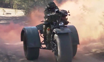 The Belarusian military is testing a three-wheeled murdercycle