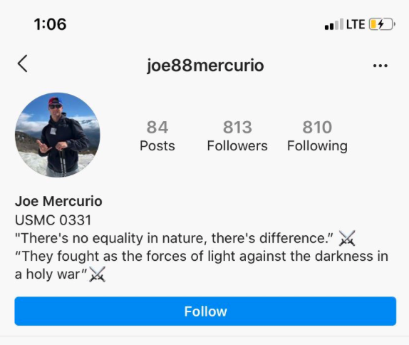 The Marine Corps is investigating a deployed machine-gunner who seems to be a Nazi fanboy