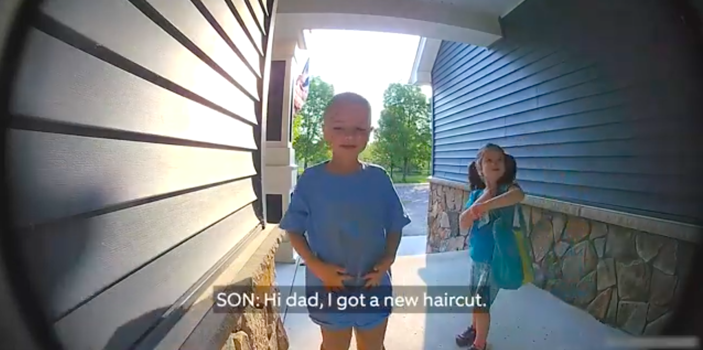 Drop everything and watch this adorable video of two kids leaving messages for their deployed dad