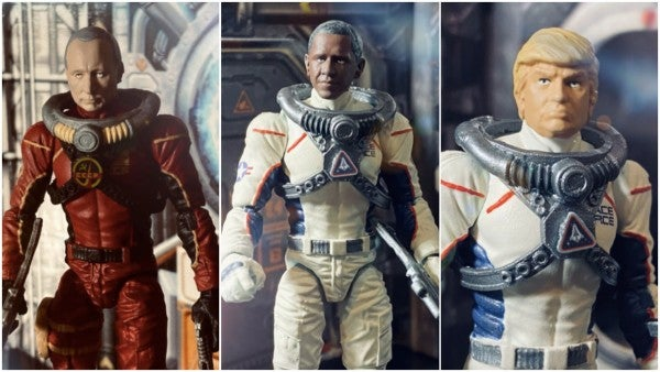 These Space Force action figures feature Trump and Obama teaming up to beat the Russians to Mars