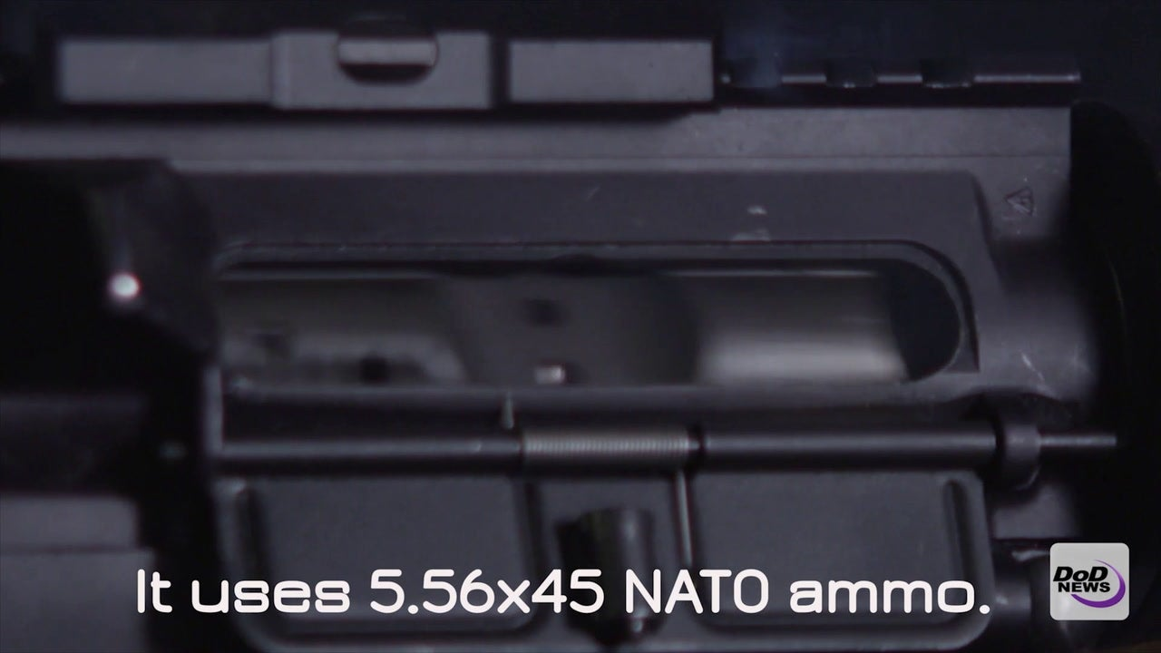 Check out this slow motion video of an M4 Carbine in action