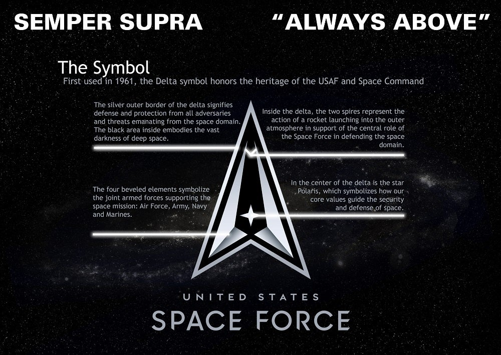 Space Force logo evokes the symbology of Star Trek and General Motors