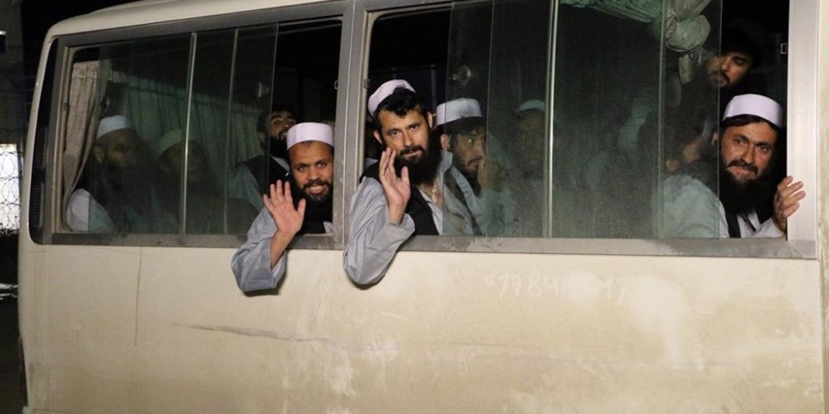 Afghan government releases 100 more Taliban prisoners