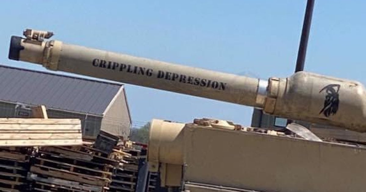 We salute the Army crew who named their tank 'crippling depression'