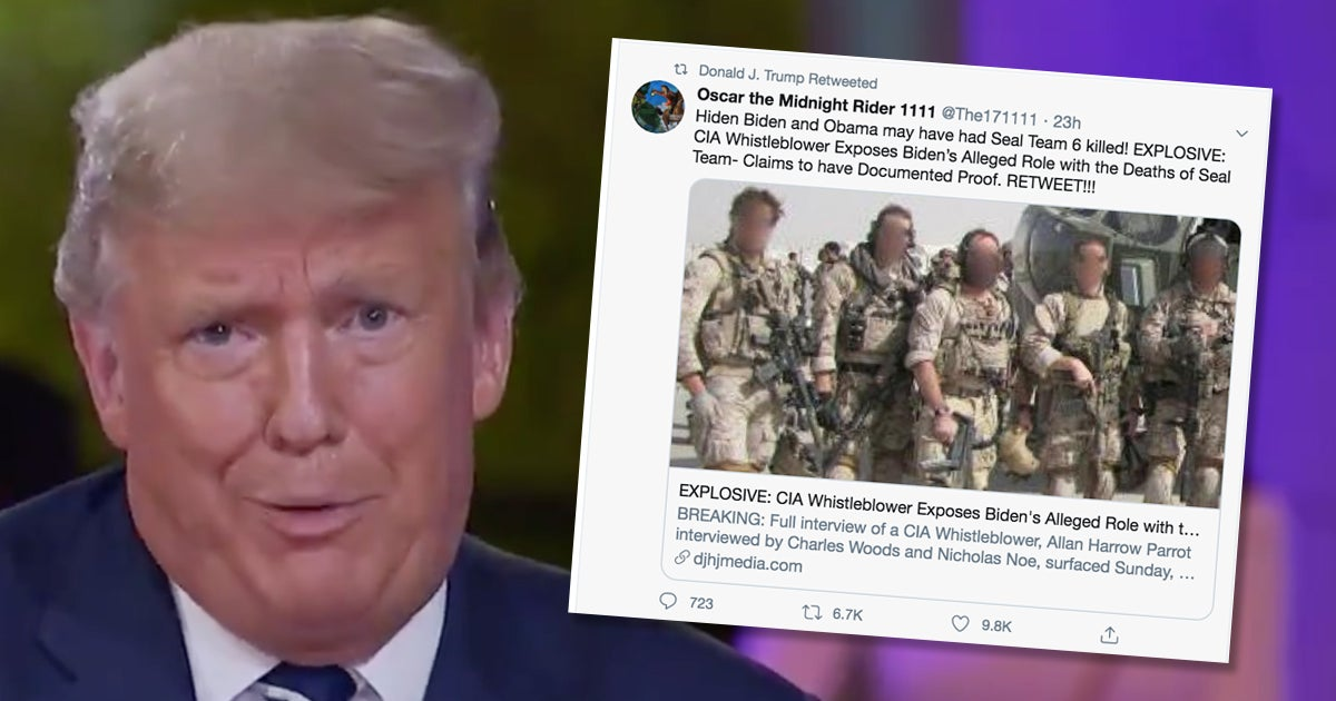 The commander-in-chief is officially America's 'crazy uncle' who thinks Bin Laden is alive and Biden killed SEAL Team 6