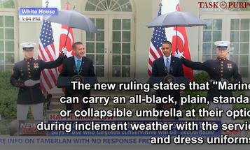 Umbrellas for the Marine Corps