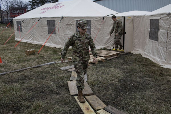 'The whole thing is surreal' — A day in the life of an Illinois Guardsman fighting COVID-19