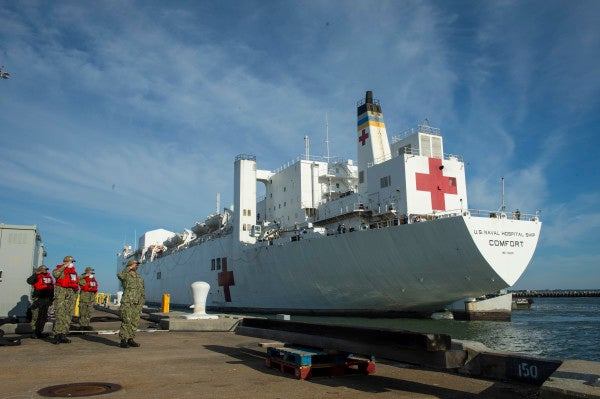USNS Comfort receives muted homecoming in Norfolk upon return from COVID-stricken New York