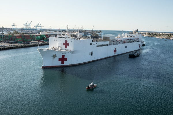 Navy hospital ship Mercy has stopped taking patients after treating just 77 in 6 weeks