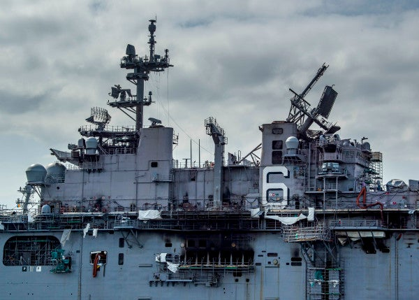 The Bonhomme Richard fire raises concerns over whether the Navy can repair ships damaged in war