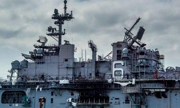 The USS Bonhomme Richard has finally stopped burning
