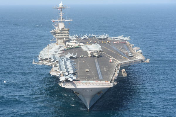 The US is rocking 2 aircraft carriers in the Middle East for the first time in years as a warning to Iran