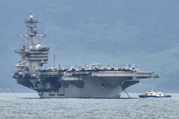 Most sailors testing positive for COVID-19 on the USS Theodore Roosevelt showed no symptoms of infection