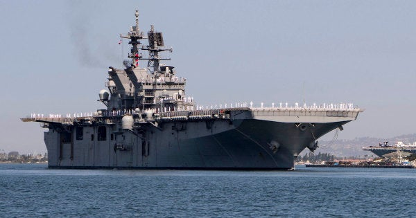 The Navy's newest amphibious assault ship just rolled up in San Diego