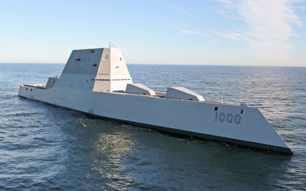 The Navy's futuristic stealth destroyer is finally ready for action, sort of