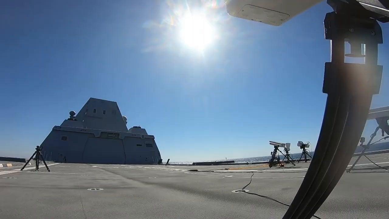 USS Zumwalt launches first missile