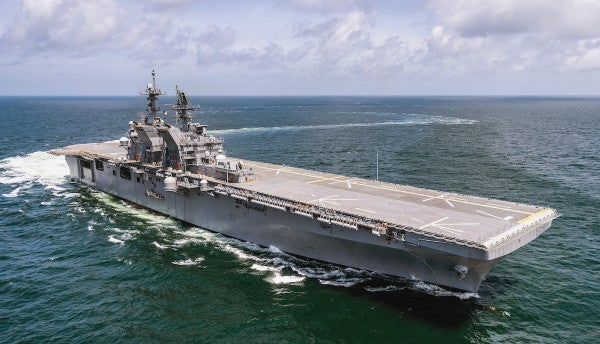 Meet the Navy's newest amphibious assault ship for a 'leaner and meaner' Marine Corps