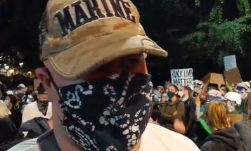 A 'Wall of Vets' joined the ranks of the Portland protesters
